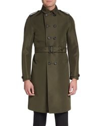 Burberry Prorsum Double-breasted Virgin Wool-blend Trenchcoat - Lyst