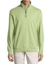 Bobby Jones - Leaderboard Quarter-Zip Pullover Sweatshirt - Lyst