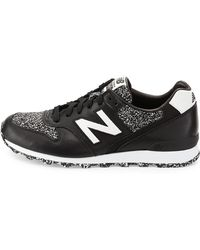 New Balance - 696 Metallic Detailed Leather Trainer - Lyst