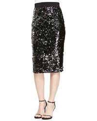 Milly Sequined Slim Pencil Skirt - Lyst