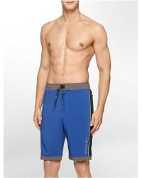 Calvin Klein White Label Logo Piped Boardshorts blue - Lyst