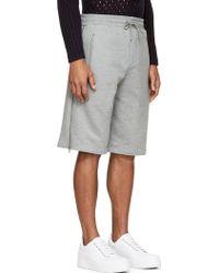 McQ by Alexander McQueen Heather Grey Zipped Shorts - Lyst