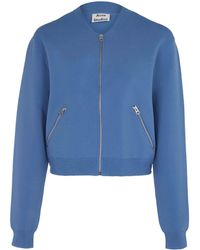 Acne Studios Light Blue Olympia Compact Knit Bomber Jacket - Lyst