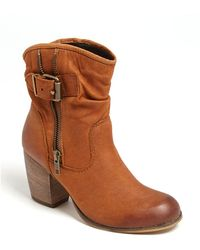 Steve Madden Traderr Leather Booties - Lyst