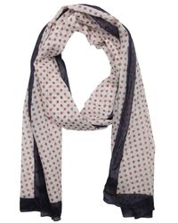 Fendi White And Red Cotton 'Ff' Print Scarf - Lyst