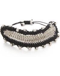 Sam Edelman - Chain Mail Macrame Bracelet - Lyst