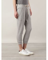 NLST Cropped Drawstring Sweatpants - Lyst