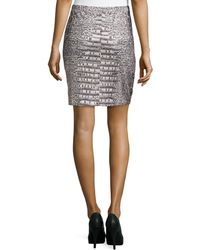 Grayse - Metallic Embellished Printed Skirt - Lyst