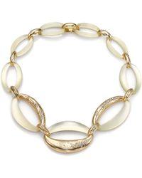 Alexis Bittar Vert D'Eau Lucite & Crystal Chain-Link Necklace - Lyst