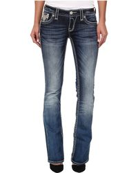 Rock Revival Saratov B2 Toned Brand Patch Boot Cut Jean - Lyst