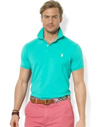 Polo Ralph Lauren Customfit Mesh Polo Shirt - Lyst