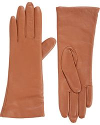 Barneys New York Sensortouch Tech Leather Gloves - Lyst