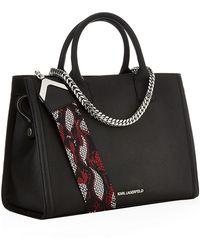 Karl Lagerfeld Rock Saffiano Leather Crossbody Bag - Lyst