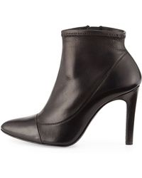 Pedro Garcia Roberta Leather Ankle Bootie - Lyst