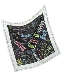 Moschino To Be Or Not To Be Thats Fashion Square Scarf - Lyst