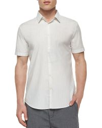 John Varvatos Striped Short-Sleeve Sport Shirt - Lyst