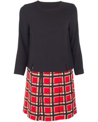 Marc By Marc Jacobs Toto Plaid Two Way Dress - Lyst