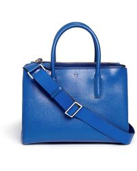 Anya Hindmarch Ebury Smiley' Small Leather Tote - Lyst