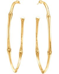 John Hardy Bamboo 18k Gold Large Hoop Earrings - Lyst