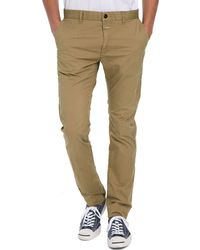 Closed Faded Beige Stretch Cotton Chinos - Lyst