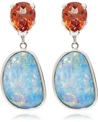 Stephen Dweck - Silver Topaz And Opal Drop Earrings - Lyst
