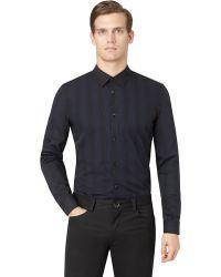 Calvin Klein Modern Fit Variegated Stripe Sport Shirt - Lyst