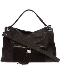 Sandro Absinthe Tassled Shoulder Bag Black - Lyst