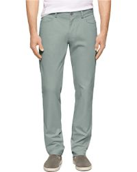 Calvin Klein Sateen Bowery Casual Pant - Lyst