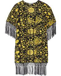 Alice + Olivia Onella Embroidered Silk Kimono Jacket - Lyst