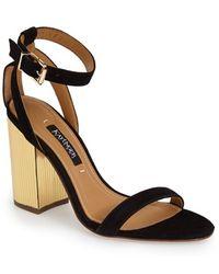 Kay Unger - 'Zander' Ankle Strap Sandal - Lyst