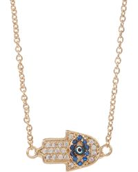 Jules Smith Hamsa Charm Necklace - Lyst