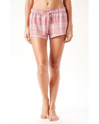 Wildfox Plaid Lounge Shorts - Lyst