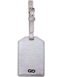 Cole Haan Pebbled Leather Luggage Tag - Natural