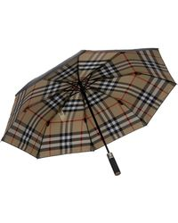 Burberry Prorsum - Check-Lined Small Collapsible Umbrella - Lyst