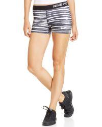 Nike Pro Tiger-stripe Skinny Dri-fit Shorts - Lyst