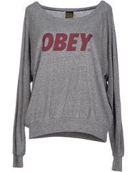 Obey Sweater - Lyst