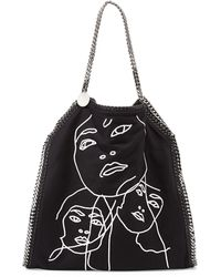 Stella McCartney Falabella Visage Embroidered Tote Bag - Lyst
