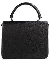 Carven Medium Leather Bag black - Lyst