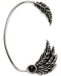 Pamela Love Silver Feather Ear Cuff silver - Lyst