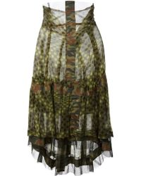 Comme des Garçons Camouflage Polka Dot Skirt Dress - Lyst
