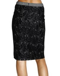 Frankie Morello Skirt Sheath Dress Barb with Lace - Lyst
