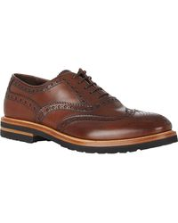 Elia Maurizi Perforated Wingtip Balmorals - Lyst