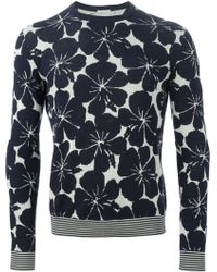 Moncler Hibiscus Intarsia Jumper - Lyst