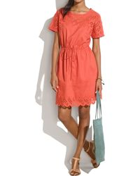 Madewell Eyelet Wildfield Dress - Lyst