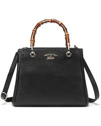 Gucci Bamboo Small Shopper Tote Bag - Lyst