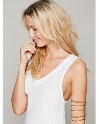 Nashelle - Leather Bound Upper Arm Cuff - Lyst