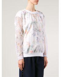 Alexis Mabille - Printed Sheer Detail Sweatshirt - Lyst