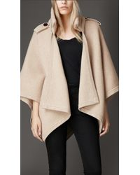 Burberry Wool Cashmere Cape - Lyst
