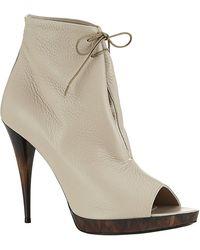 Burberry Jenkin Peeptoe Ankle Boots - Lyst