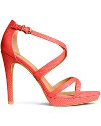 H&M Platform Sandals pink - Lyst
